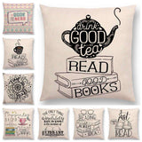 Bookish Quotes Cushion Covers, Color - a022803-For Reading Addicts