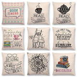 Bookish Quotes Cushion Covers, Color - a022825-For Reading Addicts