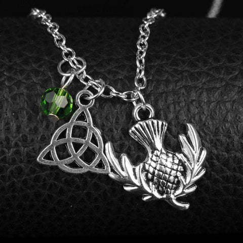 Outlander Inspired Thistle Necklace Set - Gifts For Reading Addicts