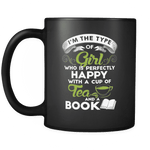 Tea and Books , Black Mug - Gifts For Reading Addicts