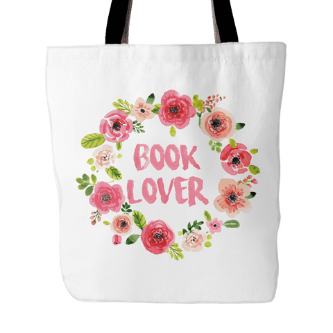 Book Lover Floral Tote Bag-For Reading Addicts