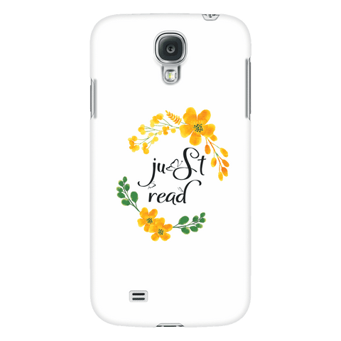Just read floral phone case white - Gifts For Reading Addicts