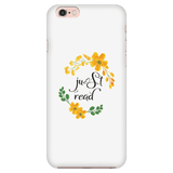 Just read floral phone case white