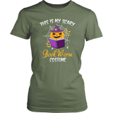 """Bookworm costume"" Women's Fitted T-shirt"