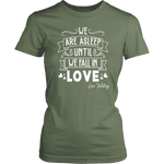 """We fall in love"" Women's Fitted T-shirt"
