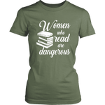 """Women who read"" Women's Fitted T-shirt - Gifts For Reading Addicts"