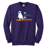 """I'd rather be reading"" YOUTH CREWNECK SWEATSHIRT"