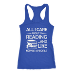 """All I Care About Is Reading"" Women's Tank Top - Gifts For Reading Addicts"