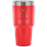 Keep Calm And Read .. Travel Mug - Gifts For Reading Addicts