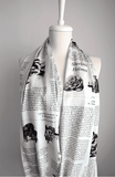 Sherlock Holmes Infinity Scarf Handmade Limited Edition-For Reading Addicts