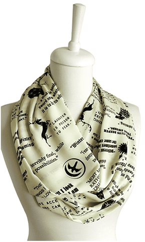 Yellow Game Of Thrones Themes Infinity Scarf Handmade Limited Edition-For Reading Addicts