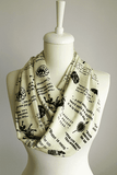 Yellow Game Of Thrones Themes Infinity Scarf Handmade Limited Edition - Gifts For Reading Addicts