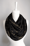 Black Lord of the Rings Handmade Infinity Scarf Limited Edition-For Reading Addicts