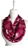 Claret Red Game Of Thrones Themes Infinity Scarf Handmade Limited Edition-For Reading Addicts