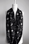 Black Game Of Thrones Themes Infinity Scarf Handmade Limited Edition - Gifts For Reading Addicts