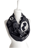 Jane Austen Pride and Prejudice Infinity Scarf Handmade Limited Edition-For Reading Addicts