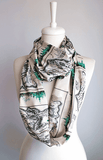 The Wonderful Wizard of Oz Map Infinity Scarf Handmade Limited Edition - Gifts For Reading Addicts