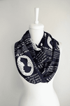 Jane Austen Pride and Prejudice Infinity Scarf Handmade Limited Edition - Gifts For Reading Addicts