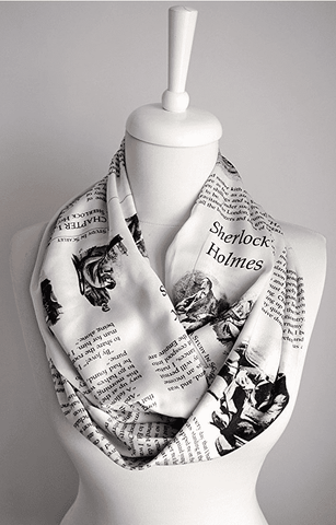 Sherlock Holmes Infinity Scarf Handmade Limited Edition - Gifts For Reading Addicts