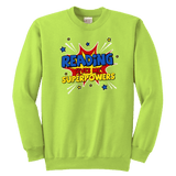 "''Reading gives me""YOUTH CREWNECK SWEATSHIRT - Gifts For Reading Addicts"