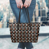 Book Pattern Leather Totes-For Reading Addicts
