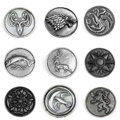 Song of Ice and Fire Lapel Pins - Gifts For Reading Addicts