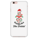 """Reading in a winter wonderland"" Phone case - Gifts For Reading Addicts"