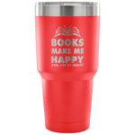 Books Make Me Happy Travel Mug - Gifts For Reading Addicts