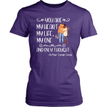"""My heart my life"" Women's Fitted T-shirt - Gifts For Reading Addicts"