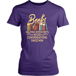 """Avoid Conversations since 1454"" Women's Fitted T-shirt"