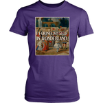 """I Found Myself In Wonderland"" Women's Fitted T-shirt - Gifts For Reading Addicts"