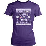 """Dashing Through The Books"" Women's Fitted T-shirt - Gifts For Reading Addicts"