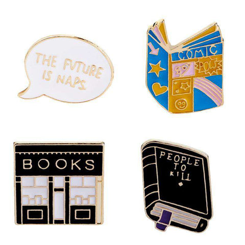 Enamel Pins Books and Bookshops - Gifts For Reading Addicts