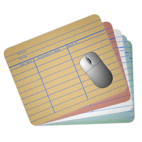 Library Card Mousepad-For Reading Addicts