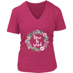"""Time to read"" V-neck Tshirt - Gifts For Reading Addicts"