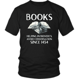 """Books"" Unisex T-Shirt - Gifts For Reading Addicts"