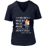 """My heart my life"" V-neck Tshirt - Gifts For Reading Addicts"