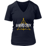 """Whorecrux"" V-neck Tshirt - Gifts For Reading Addicts"