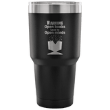 Open Books Lead To Open Minds Travel Mug - Gifts For Reading Addicts
