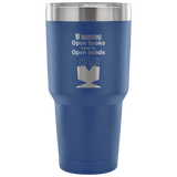 Open Books Lead To Open Minds Travel Mug