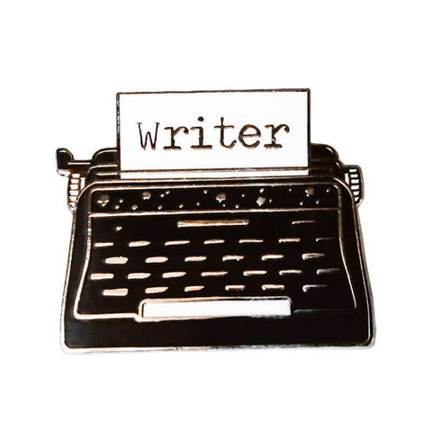 Writer Typewriter Enamel Pin Badge - Gifts For Reading Addicts