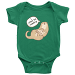 """I otter be reading"" BABY BODYSUITS"