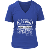 """You are sunlight"" V-neck Tshirt - Gifts For Reading Addicts"