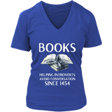 """Books"" V-neck Tshirt - Gifts For Reading Addicts"