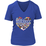 """I am a bookaholic"" V-neck Tshirt - Gifts For Reading Addicts"