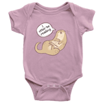 """I otter be reading"" BABY BODYSUITS - Gifts For Reading Addicts"
