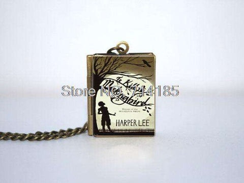 To Kill A Mockingbird Book cover Locket Necklace keyring