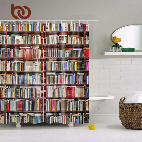 Library Bookshelves Shower Curtain - Gifts For Reading Addicts