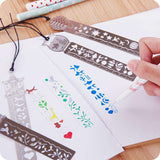 Cute Retro Metal Ruler Bookmarks 4 Pcs - Gifts For Reading Addicts