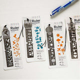 Cute Retro Metal Ruler Bookmarks 4 Pcs-For Reading Addicts